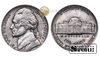 Монеты США , 5 центов - 1983 год P