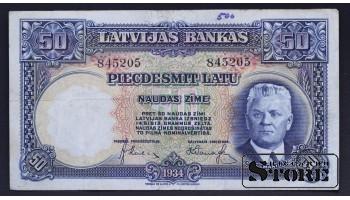 БАНКНОТА, ЛАТВИЯ , 50 ЛАТ 1934 ГОД - 845205