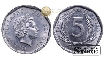 Восточные Карибы , 5 центов 2010 год