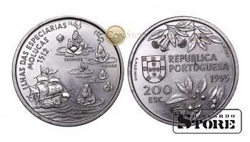 Португалия , 200 эскудо, 1995 год ,  (Путешествие на Молуккские острова в 1512 году)