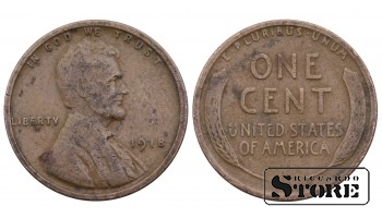 1 ЦЕНТ США 1918 ГОД KM# 132