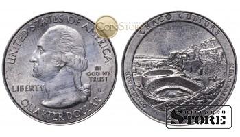 Монеты США , 1/4 доллара - 2012 год D (Национальный исторический парк Чако)