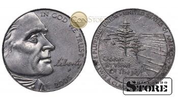 Монеты США , 5 центов - 2005 год P - (200 лет экспедиции Льюиса и Кларка - Выход к океану)