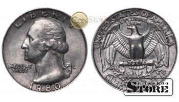 МОНЕТЫ США , 1/4 ДОЛЛАРА - 1980 год P