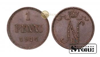 ФИНЛЯНДИЯ , 1 ПЕННИ 1914 ГОД