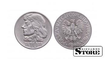 Польша, 10 злотых 1960 год - Тадеуш Костюшко