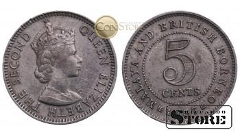 Малайя и Британское Борнео, 5 центов 1957 год