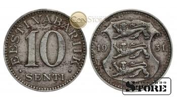 Эстония , 10 центов 1931 год , Медно-никель