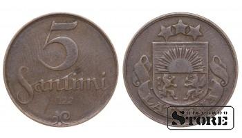 1922 Latvia First Republic (1922 - 1940) Coin Coinage Standard 5 santimi KM# 3 #LV255