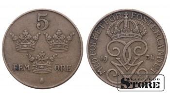5 ЭРЕ ШВЕЦИЯ 1939 ГОД KM# 779.2