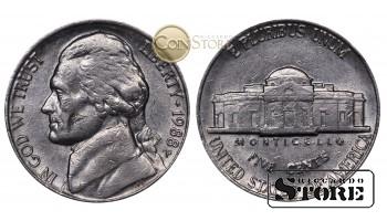 Монеты США , 5 центов - 1988 год P