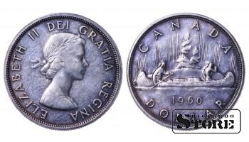 Canadian Queen Elizabeth II Coin Coinage Standard 1960 1 Dollar KM#54 #CA539