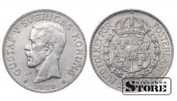 1939 Sweden King Gustav V (1908 - 1950) Silver Coin Coinage Standard 2 Kronor KM# 787 #7