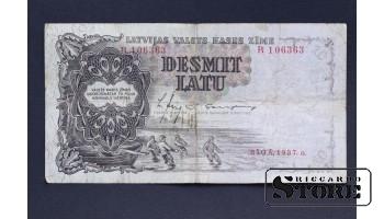 БАНКНОТА , ЛАТВИЯ , 10 ЛАТ  R106363