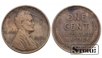 1 ЦЕНТ США 1910 ГОД KM# 132