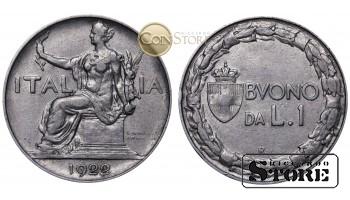 Италия , 1 Лира 1922 год