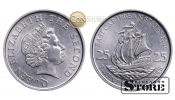 Восточные Карибы , 25 центов 2010 год