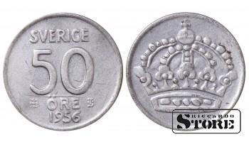 1956 Sweden King Gustav V (1908 - 1950) Coin Coinage Standard 50 Ore KM#825 #SW148
