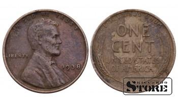 1 ЦЕНТ США 1938 ГОД KM# 132