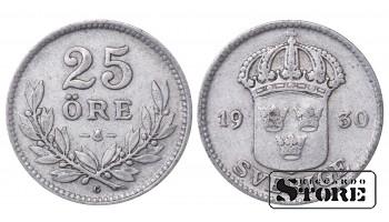 1930 Sweden King Gustav V (1908 - 1950) Coin Coinage Standard 25 ore KM# 785 #51