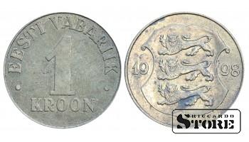 1 КРОНА 1998 ГОД , ЭСТОНИЯ
