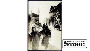 Старинная открытка времён Ульманиса На улицах Валки