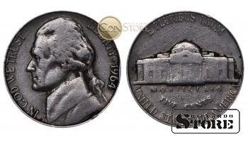 Монеты США , 5 центов - 1964 год
