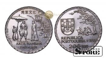 Португалия 200 эскудо, 1993 год (450 лет искусству намбан)