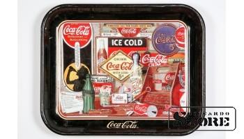 """Металический поднос COCA- COLA """"ICE COLD"""""""