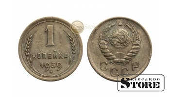 МОНЕТА, СССР , 1 КОПЕЙКА 1939 ГОД