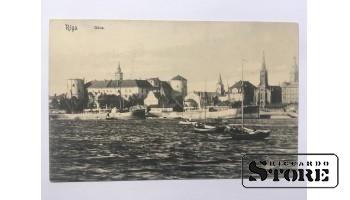 Atklātne. Rīga. Skats uz Rīgas pili, cara laika.