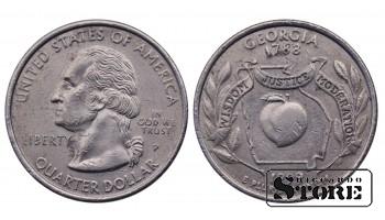 1/4 ДОЛЛАРА 1999 ГОД Georgia P