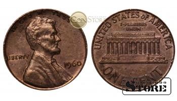 Монеты США , 1 цент  1960 год