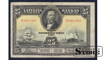 БАНКНОТА, 25 ЛАТ 1928 ГОД - B407238