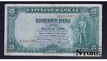 БАНКНОТА , ЛАТВИЯ , 25 ЛАТ 1938 ГОД - A155047