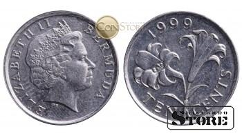 Бермудские острова , 10 центов 1999 год