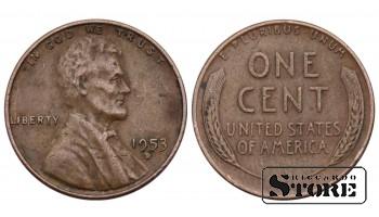 1 ЦЕНТ США 1953 ГОД KM# A132
