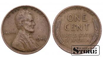 1 ЦЕНТ США 1945 ГОД KM# A132