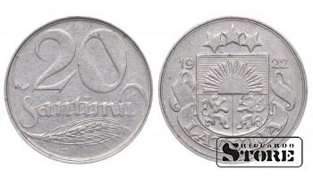 1922 Latvia First Republic (1922 - 1940) Coin Coinage Standard 20 santimu KM# 5 #LV256