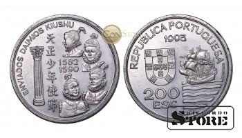 Португалия , 200 эскудо, 1993 год (Японская миссия в Европе, 1582-1590)