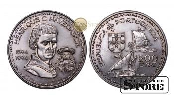 Португалия 200 эскудо, 1994 год (600 лет со дня рождения Генриха Мореплавателя)
