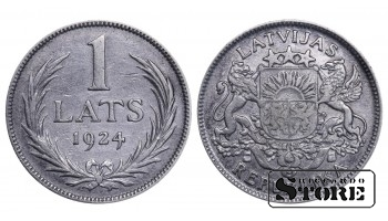 1924 Latvia First Republic (1922 - 1940) Coin Coinage Standard 1 lats KM# 7 #LV251