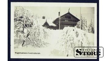 Старинная открытка времён Ульманиса Заснеженный Дом