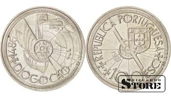Монета 100 эскудо 1987 год Португалия. Золотой век открытий - Диогу Кан