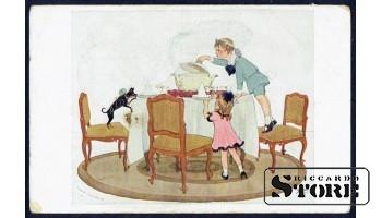 Старинная эстонская поздравительная открытка