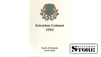 Годовой набор монет Эстонии (5 штук) 1992 год