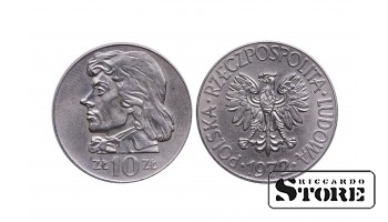 Польша, 10 злотых 1972 год - Тадеуш Костюшко
