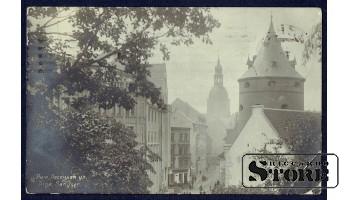 Коллекционная открытка Российской Империи Рига, Песочная улица