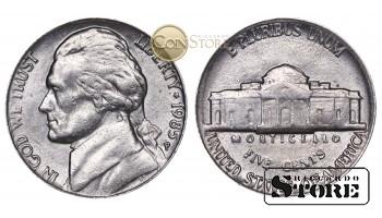 Монеты США , 5 центов - 1985 год P
