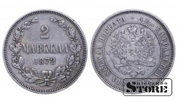 1872 Finland Emperor Nicholas II (1895 - 1917)) Coin Coinage Standard 2 markkaa KM#7 #F331